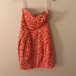 Shoshanna Strapless Red Dress - Size 0 (EUC)